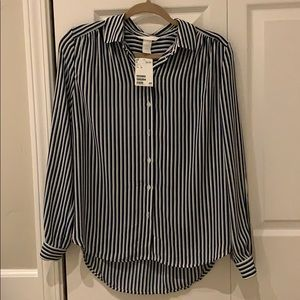 H&M Striped Long Sleeve Shirt